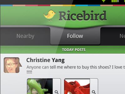 Ricebird android tabs ui menu