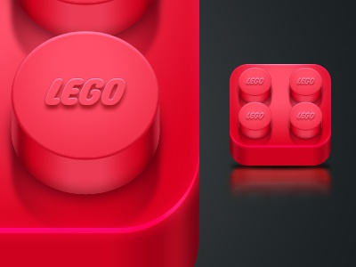 Red Lego iPhone icon by Uriel Albarran O.   Dribbble ...  Red Lego iPhone...