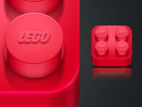 Red Lego iPhone icon
