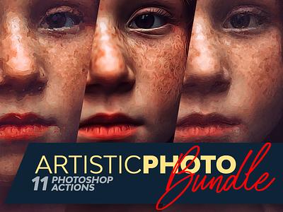 Artistic Photo Bundle deals deal free artistic bundle pencil realistic art paint photoshop actions psd