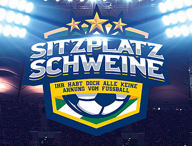 Sitzplatzschweine logotype logotype logo soccer futebol futbol fussball
