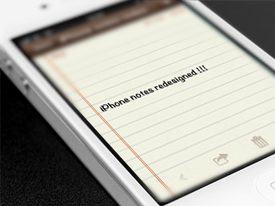 iPhone notes app redesign winterboard theme iphone ui ios notes notebook