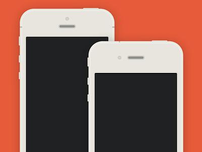 iPhone 5-4S flat PSD iphone flat sketch device psd freebie download