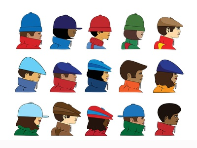 B-Boys & B-Girls vector b-girl b-boy characters hip hop digital illustration illustration