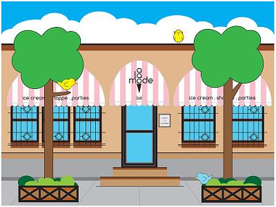 A La Mode Shoppe NYC Illustration fun drawing vector art vector ice cream a la mode shoppe nyc digital illustration illustration