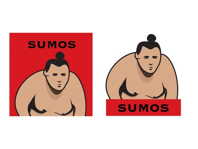 Illustration for Sushi Roxx NYC sushi japan sumo signage digital art logo vector illustration