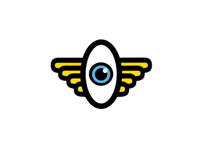 Flying Eyeball Illustration portfolio fun poster graphic design eyeball eyes eye icons life technology illustration vector