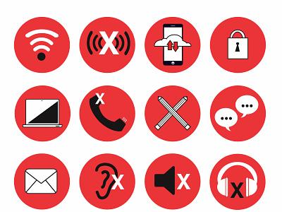 Communication No Communication accesibility communication hard of hearing deaf poster graphic design vector digital art illustration