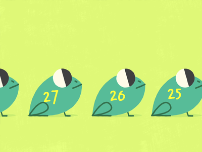 Happy Leap Day! motion character 2d animation after effects vector animation design 2d illustration
