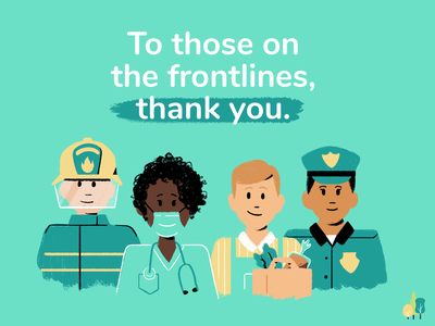 Thank you! character characterdesign first responders thankyou design 2d illustration
