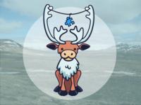 Iceland Stickers - Reindeer