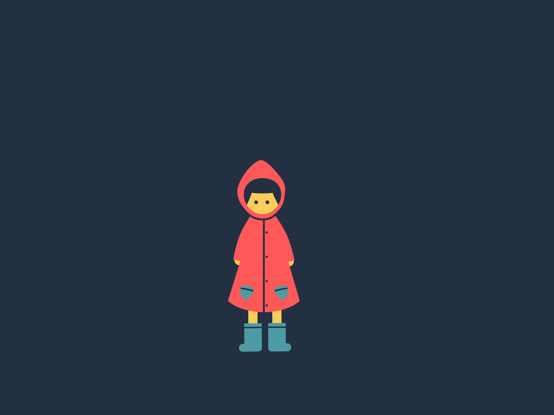 Rain girl dribbble