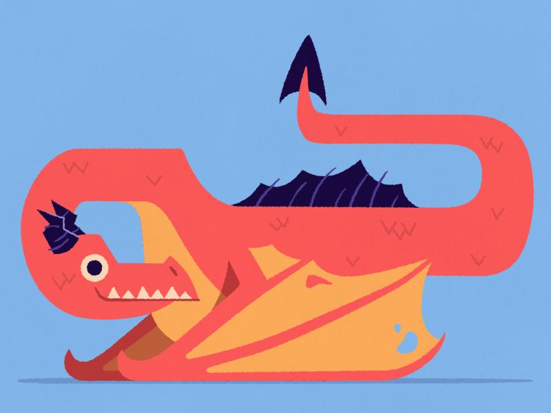 Dragon Trio illustrator adobe vector 2d illustration dragon