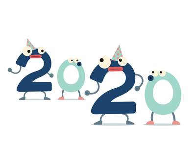 2020 character aftereffects vector animation rubberhose new year 2020 happy new year
