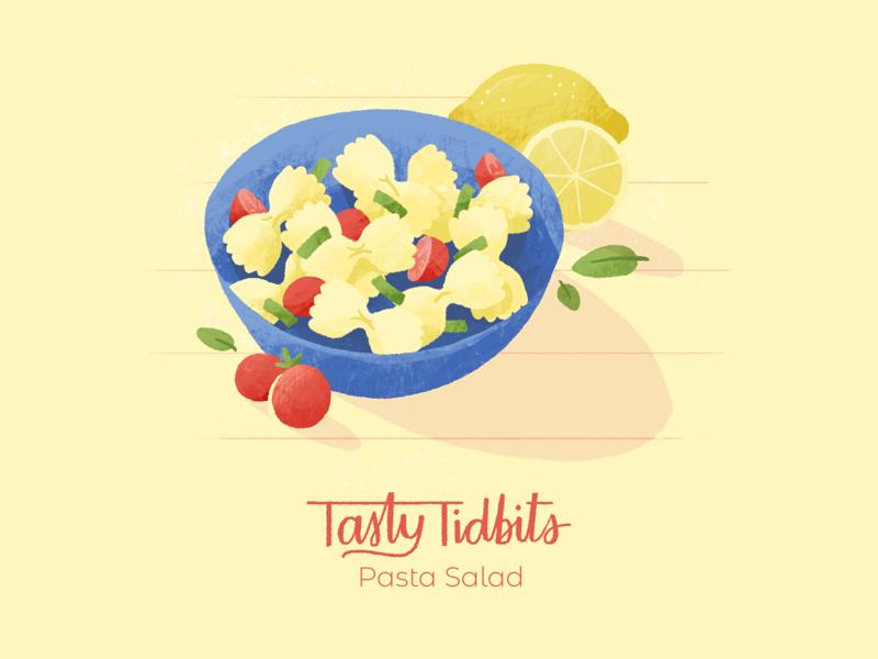 Tasty Tidbits recipe food photoshop texture 2d illustration