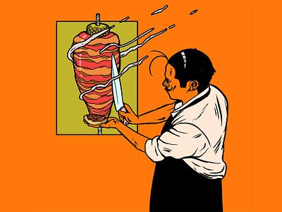 Taco de trompo al pastor mexico city taco characterdesign adobe colors trip art draw photoshop illustration