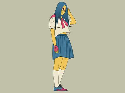 Tokyo Gal character design trip design tokyo girl draw color art characterdesign photoshop illustration