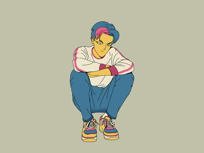 Guy character design art color cool trip characterdesign draw photoshop illustration
