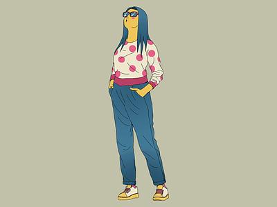 Sun Glasses girl character design characterdesign adobe colors design art draw photoshop illustration