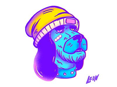 This dog (Character design) cool design trip retro millennials colors art photoshop adobe illustration characterdesign