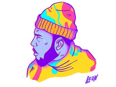 This dude #2 (Character design) cool design trip retro millennials colors art photoshop adobe illustration characterdesign