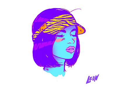 This gal (Character Design) cool design trip retro millennials colors art photoshop adobe illustration characterdesign
