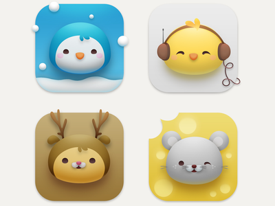 Critterama Icons preview ui critters animals neomorphism customization appicon big sur macos iconset icons kawaii cute