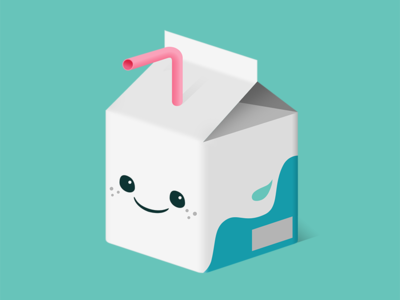 Feed Me: Milk user interface design illustration vector kawaii cute isometric milk icons icon