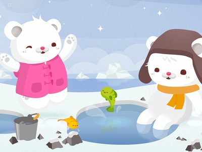 Polar Bears wip critters cute kawaii illustration animals vector nature preview