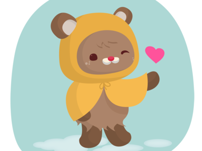 Welcome Back! love heart sasquatch bear critter kids character design animal critters preview animals vector illustration cute kawaii