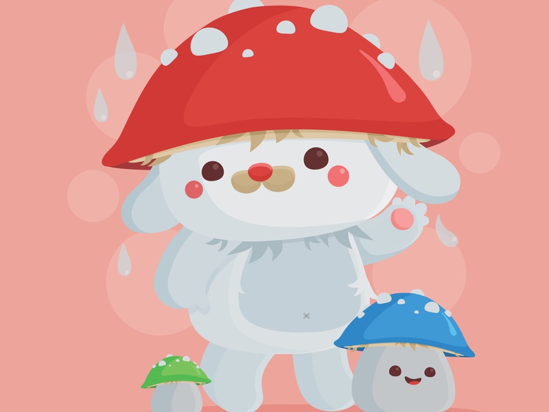 Mushishi & Lil' Mushishi animal fungus mushroom pictoplasma critter character design vector illustration kawaii cute