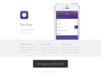 Tiny Landing Page