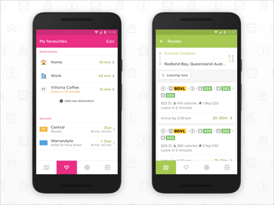 Embark for Android UI Tweaks material map travel transit mobile ui flat material design android