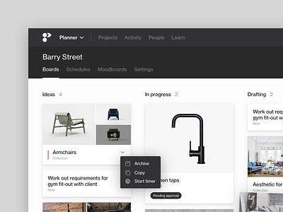 Project Planning Tool platform white web ui card kanban project management saas helvetica flat web app web clean minimal