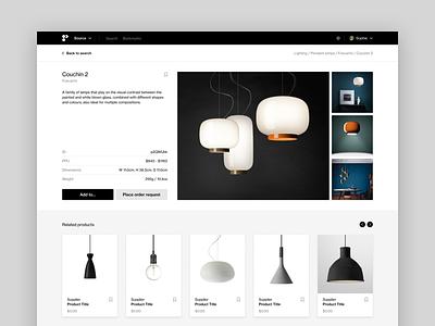 Product Page platform b2b saas white black  white helvetica swiss flat ecommerce online store marketplace web app website clean ui minimal