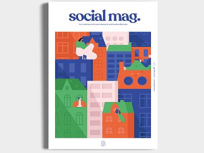 Social Mag. design editorial creative illustration