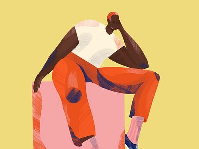 Waiting editorial design creative illustration