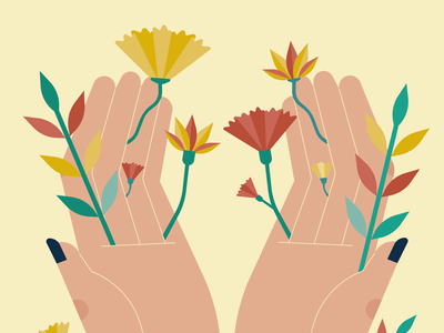 Selfcare editorial design creative illustration