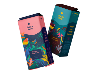 Coffee beans for Brazilian brand Bossa Nova editorial design creative illustration