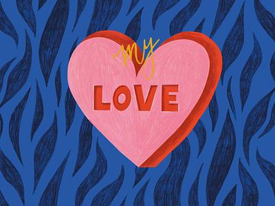 Valentine's Day love positivity cards greetingcard greeting card valentine valentines day design creative illustration