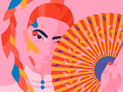 Girl in pink art creative fashion design asian pink illustration female character fashion illustration editorial illustration editorial illustration