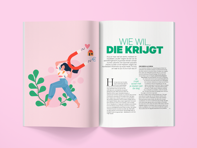 Editorial illustration creative colorful female magazine law of attraction pink woman editorial illustration editorial illustration