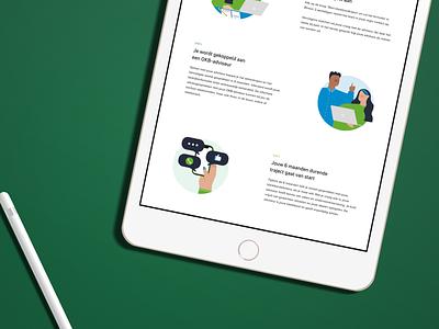 Process illustrations infographic green process guide branding editorial illustration design editorial creative illustration