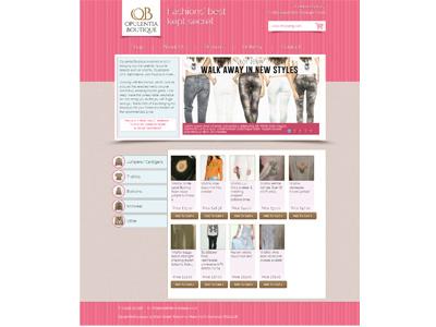 Opulentia Boutique website fashion