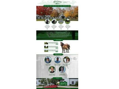 Horse Ranch website responsive long homepage