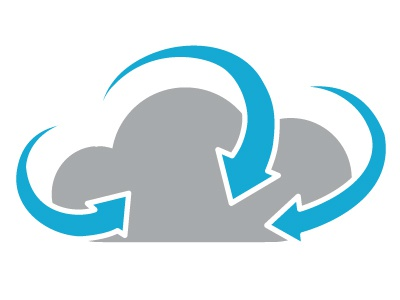 Cloud Service Agility flat cloud service agility icon