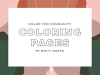 Coloring Pages for Community