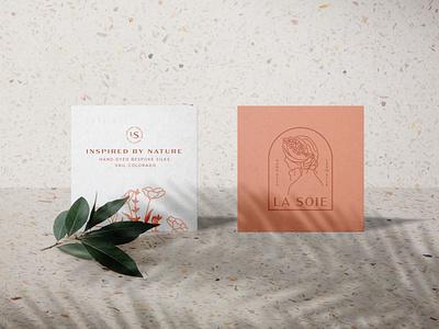 Hand Dyed Bespoke Silk Brand logotype color design branding vector illustration logo