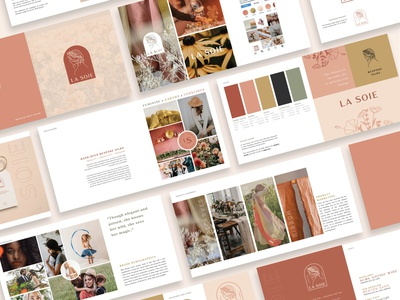 Brand Guide | La Soie layout vector logo design typography branding and identity brand guide branding