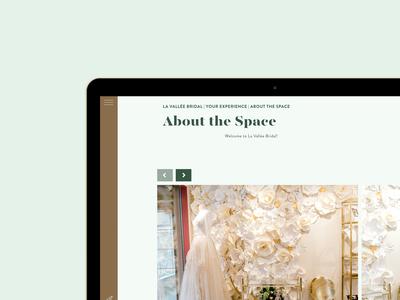 La Vallee Bridal Website